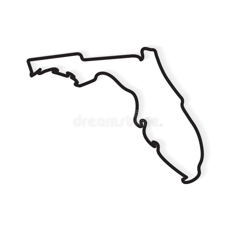 Esquema negro del mapa de la Florida libre illustration