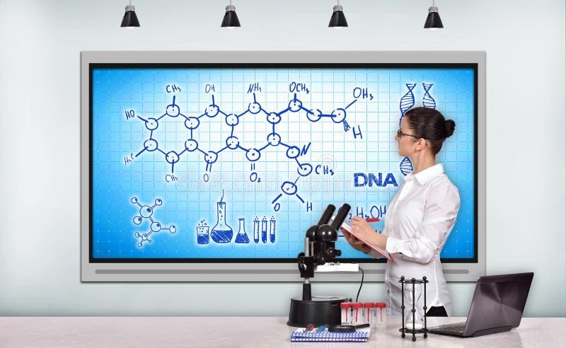 Esquema químico imagens de stock royalty free