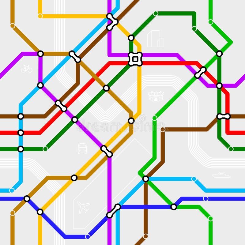 Esquema sem emenda do metro ilustração royalty free
