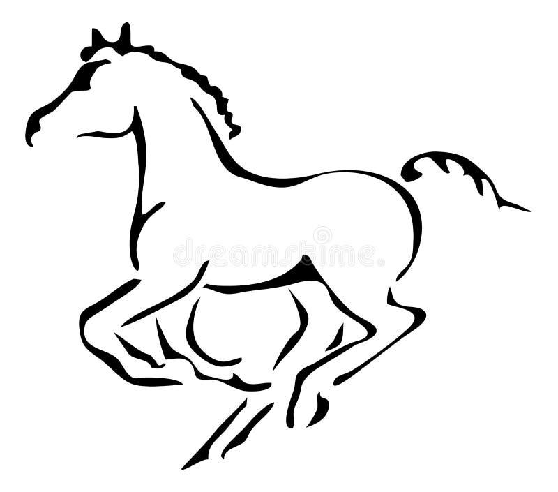 Download Esquemas Blancos Y Negros Del Vector Del Potro Galopante Ilustración del Vector - Ilustración de galope, blanco: 44854072