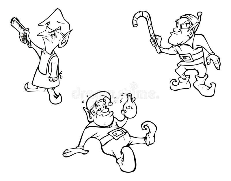 Esquemas de los duendes libre illustration