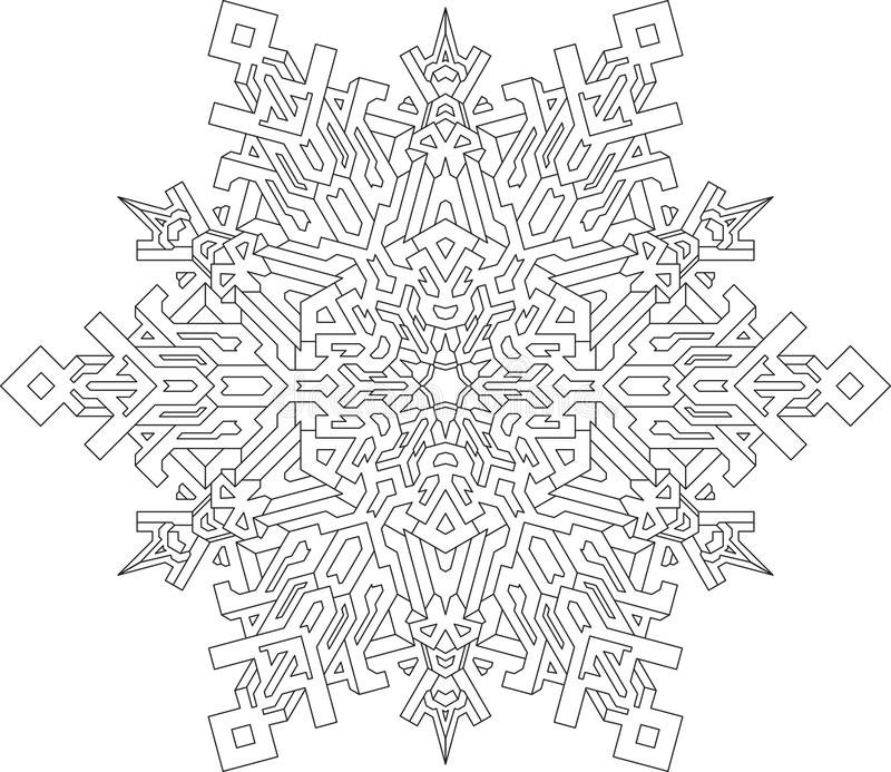 Hermosa Mandala Copos De Nieve Para Colorear Ornamento - Dibujos ...