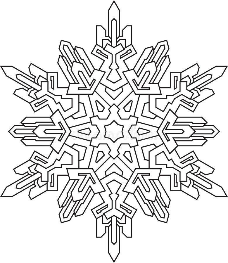 Contemporáneo Página Para Colorear Copo De Nieve Composición ...