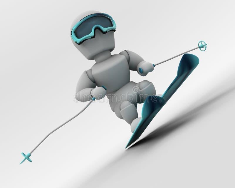 Esqui alpino ilustração royalty free