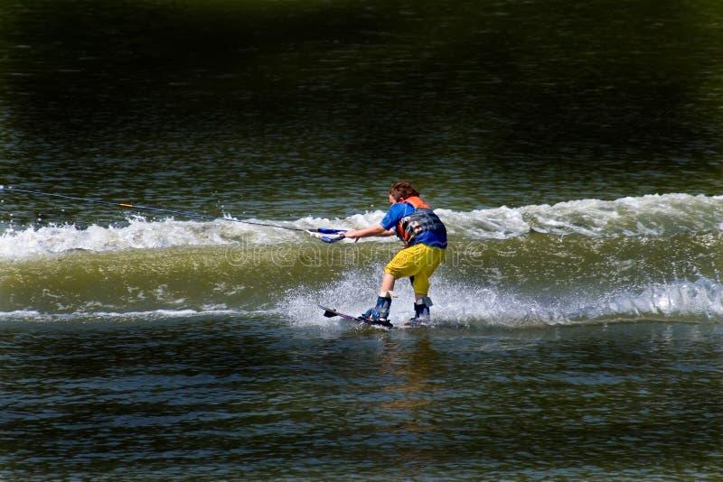 Esqui de água da criança fotos de stock royalty free