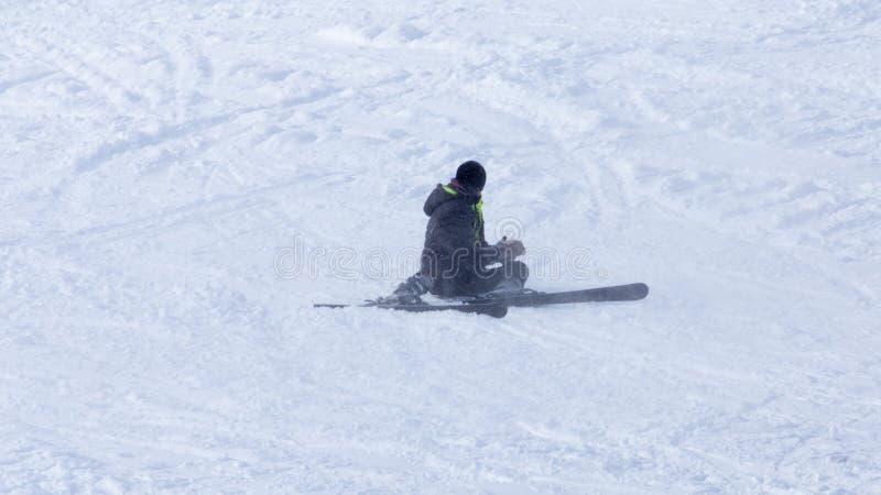 Esqui do esquiador imagem de stock royalty free