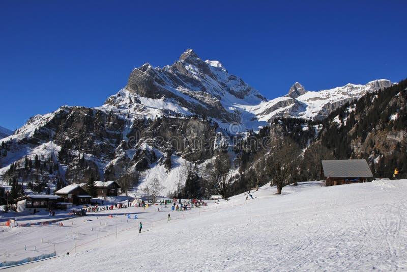 Esqui em Braunwald imagens de stock royalty free