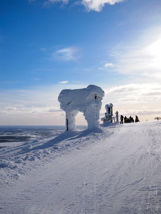 Esqui em Lapland fotografia de stock