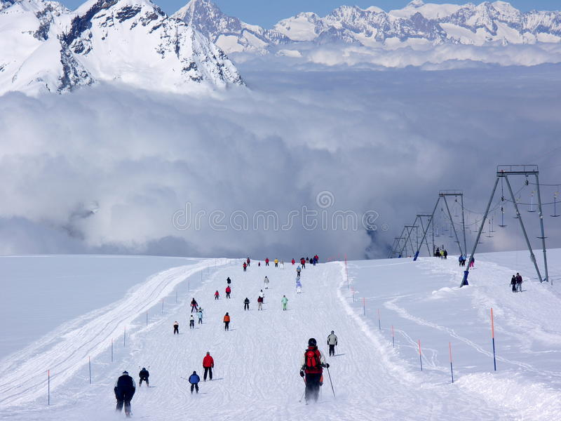 Esqui em Zermatt imagens de stock