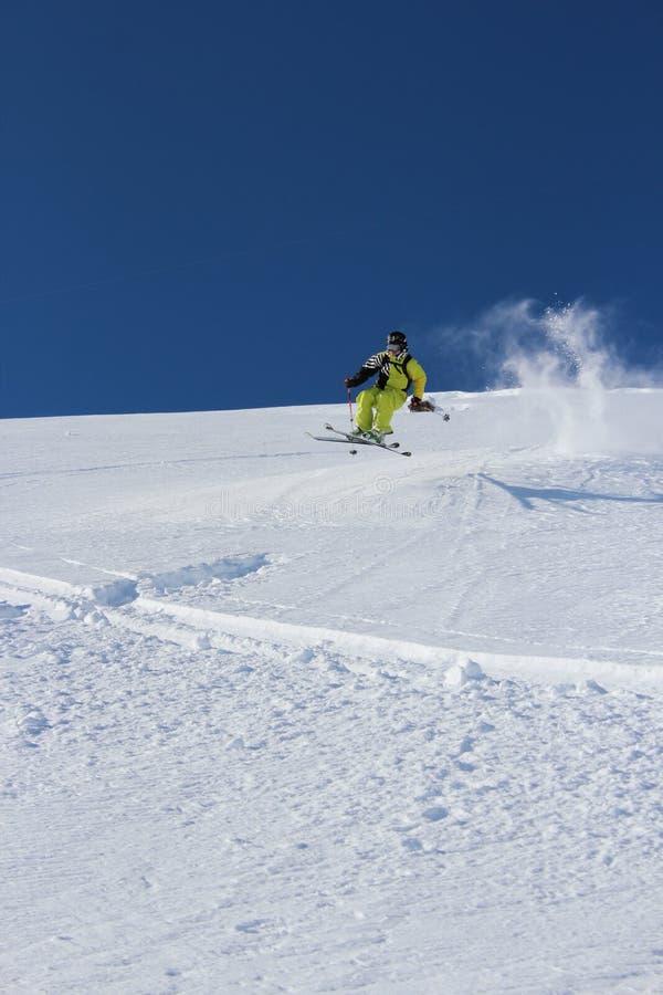 Esqui Offpiste fotografia de stock