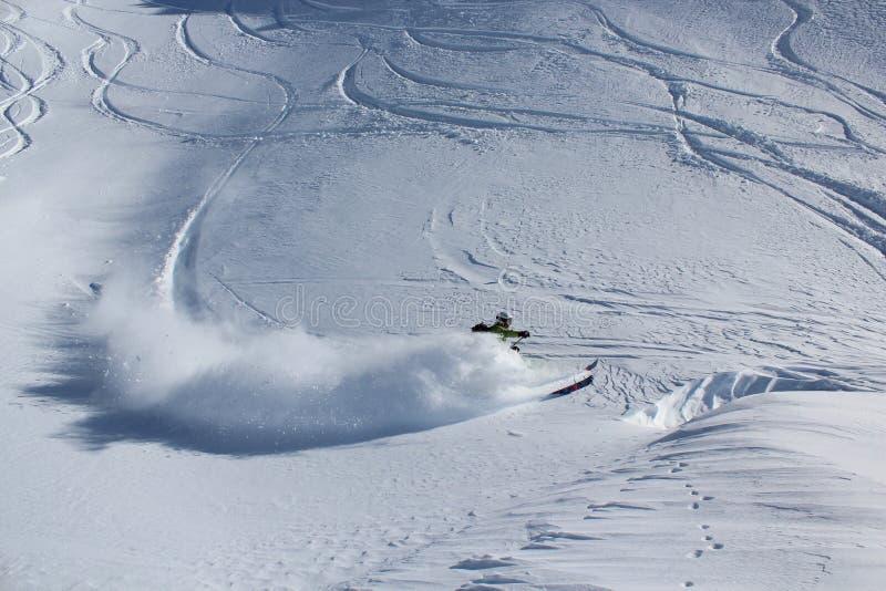 Esqui Offpiste foto de stock