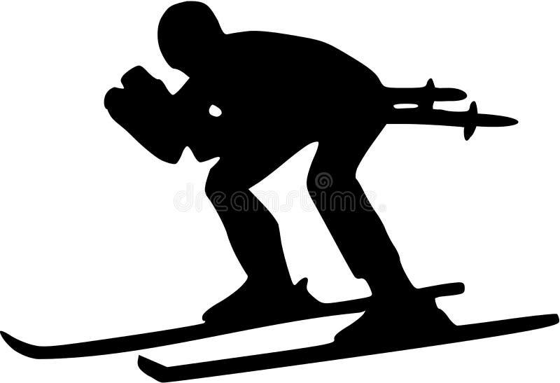 Esqui para baixo ilustração royalty free