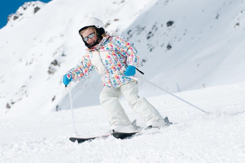 Esqui para baixo foto de stock royalty free