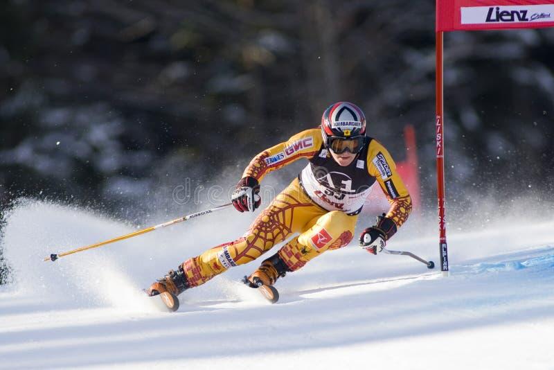 ESQUI: Slalom do gigante de Lienz imagem de stock