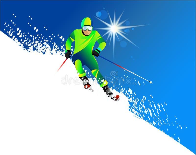 Esquiador libre illustration