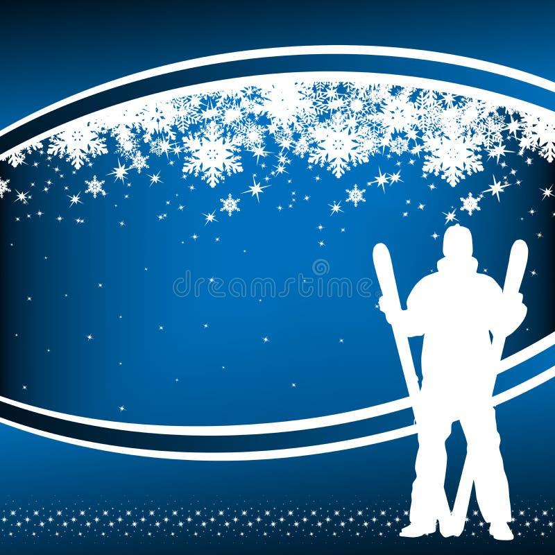 Esquiador ilustração royalty free