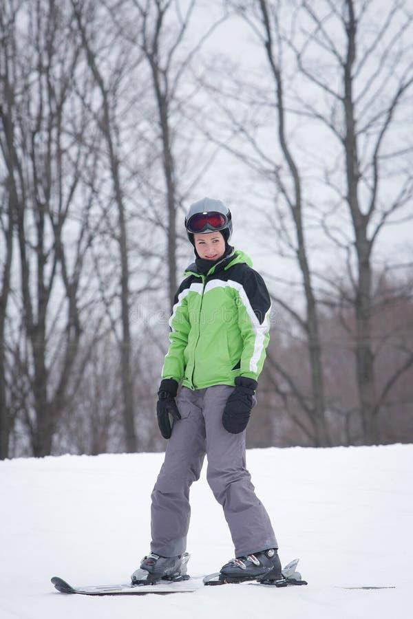 Esquiador Adolescente Foto de Stock Royalty Free