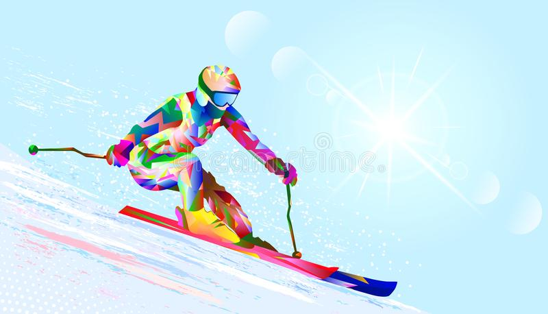 Esquiador alpino ilustração do vetor