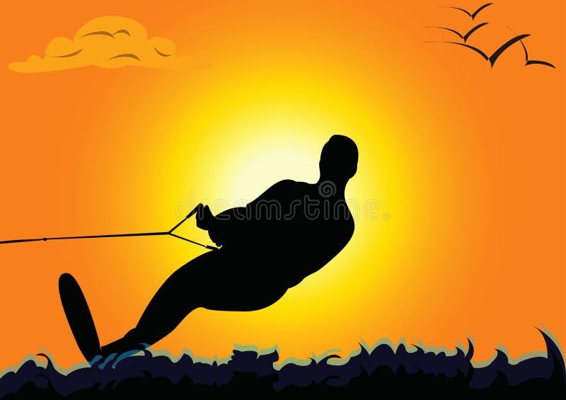 Esquiador da água ilustração do vetor