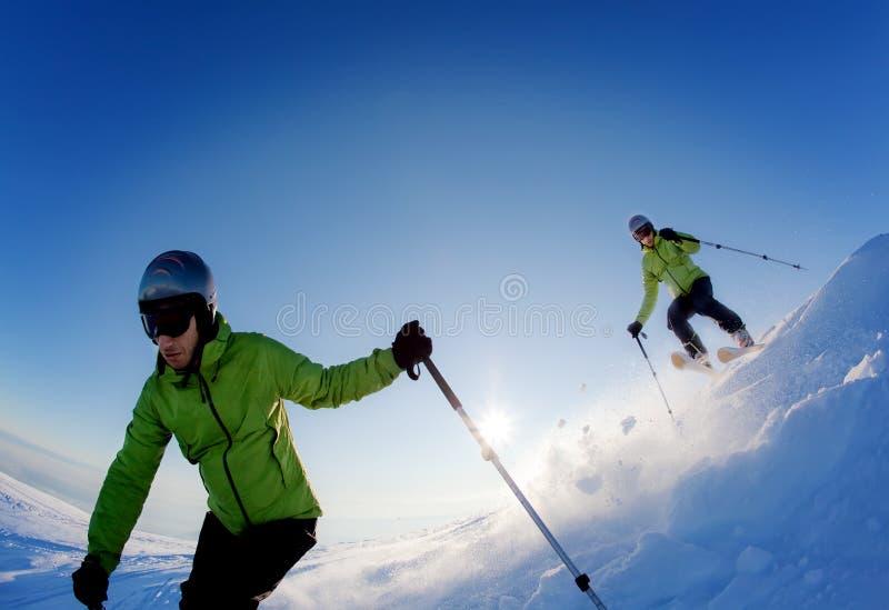 Esquiador de Freeride fotografía de archivo