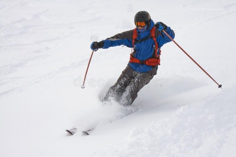 Esquiador de Freeride imágenes de archivo libres de regalías