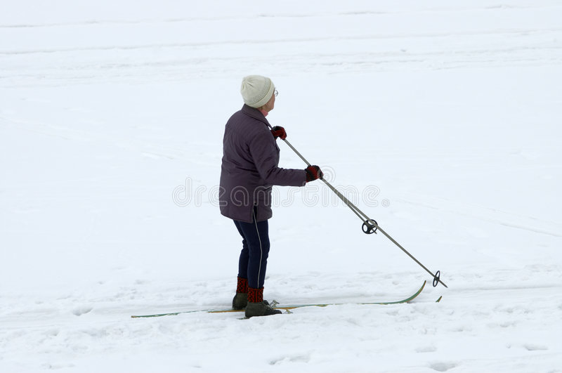 Esquiador de Sinior foto de stock royalty free