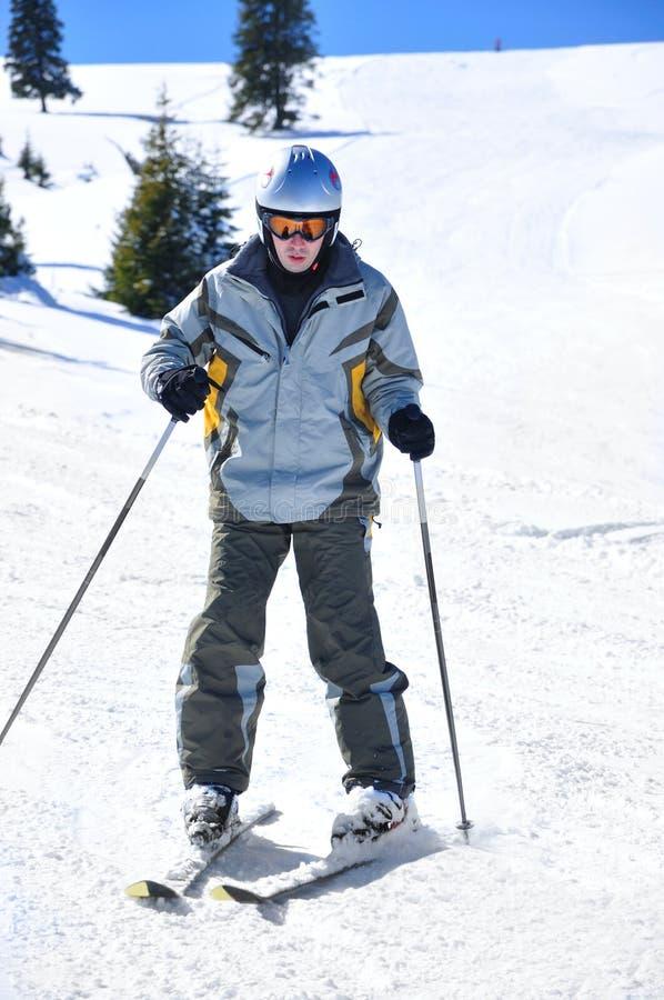 Esquiador do novato foto de stock