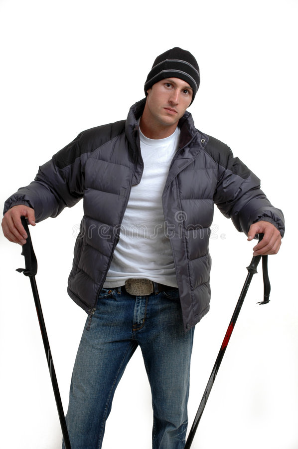Download Esquiador en declive foto de archivo. Imagen de hombre - 1284388