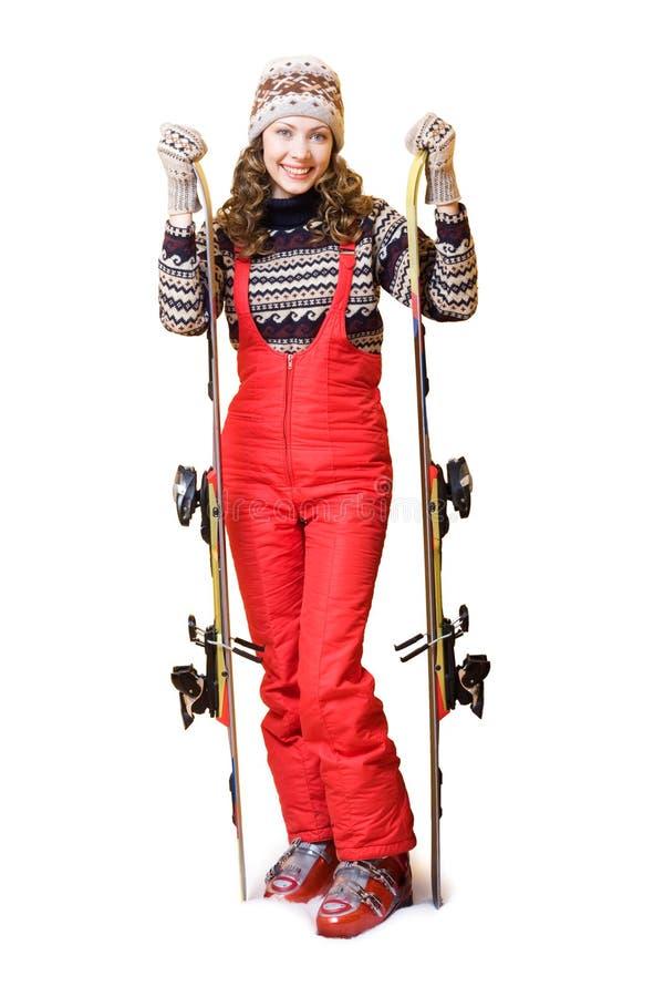 Esquiador feliz fotos de archivo libres de regalías