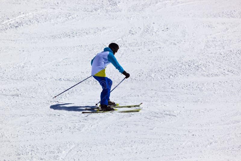 Esquiador na estância de esqui Innsbruck - Áustria das montanhas fotos de stock