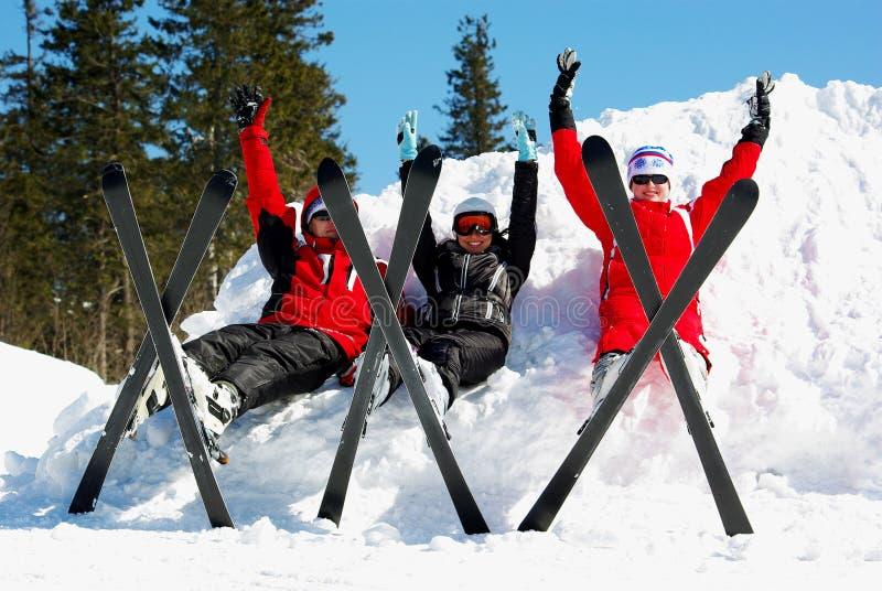 Esquiadores imagen de archivo libre de regalías