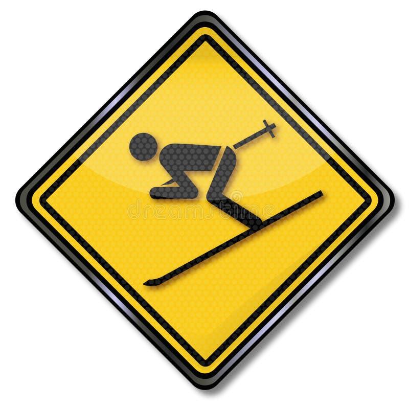 Esquiadores e feriados do esqui ilustração do vetor