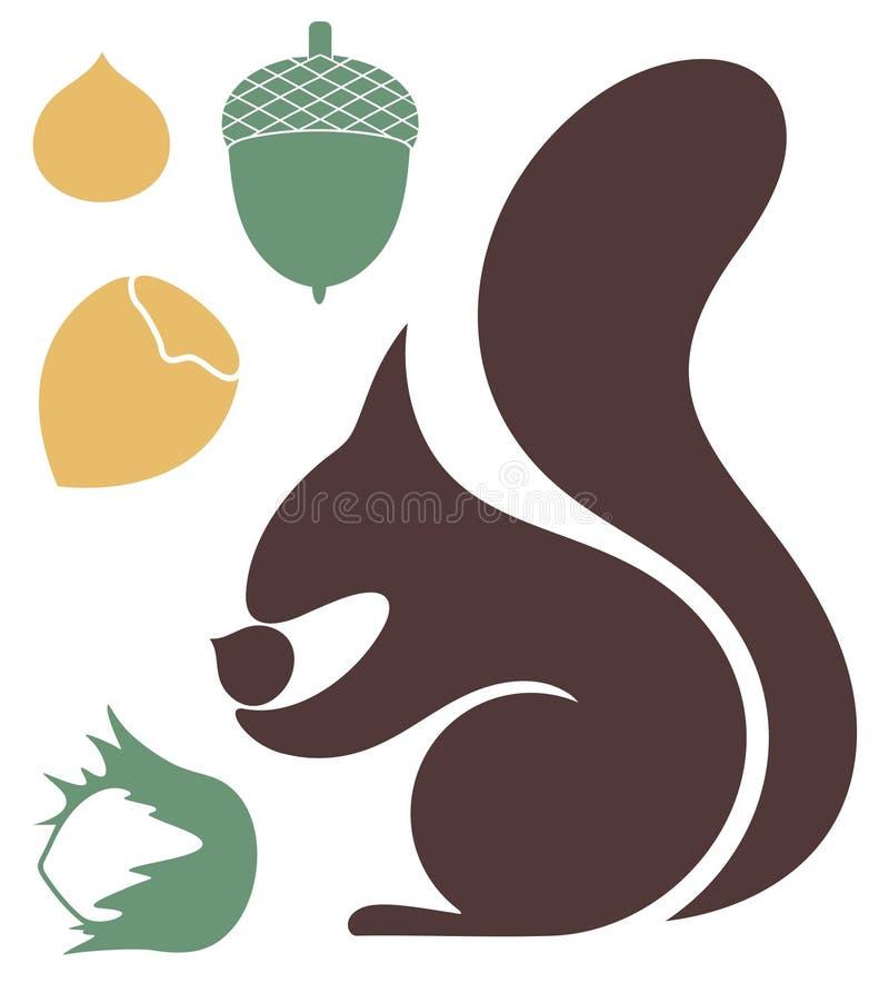 esquilo ilustração stock