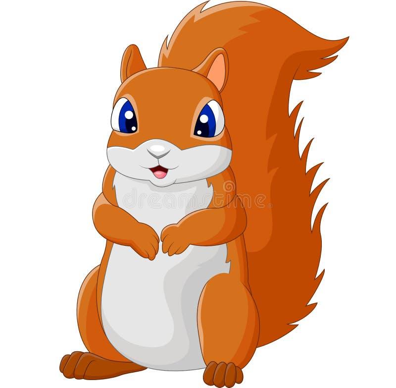Esquilo adorável dos desenhos animados ilustração royalty free