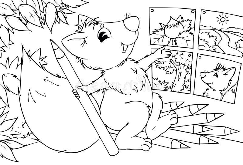 Esquilo - artista ilustração do vetor