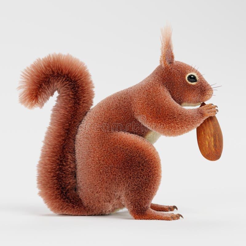 Esquilo com porca ilustração royalty free
