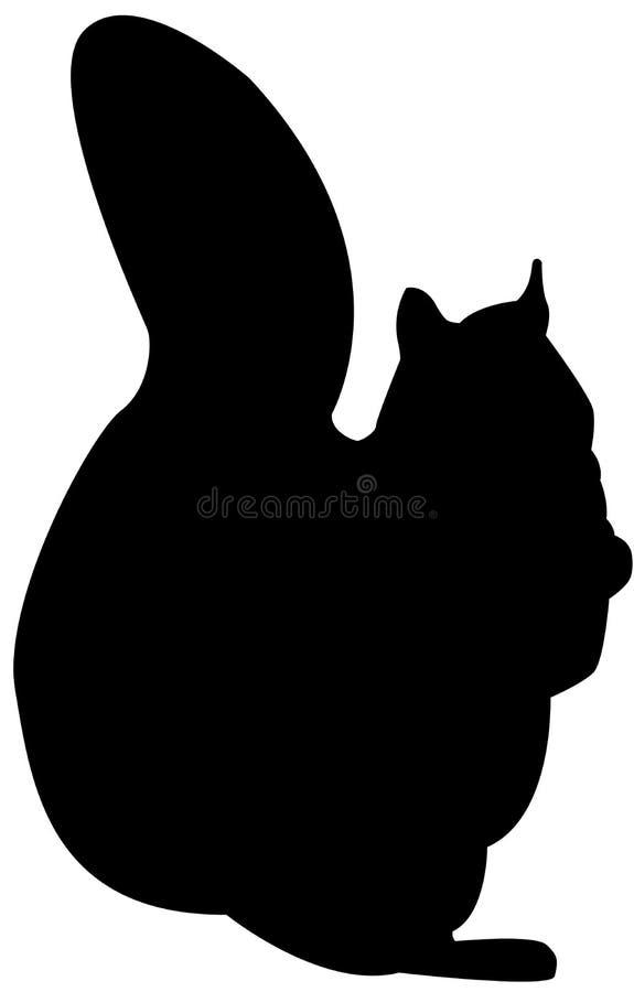 Esquilo da silhueta ilustração stock