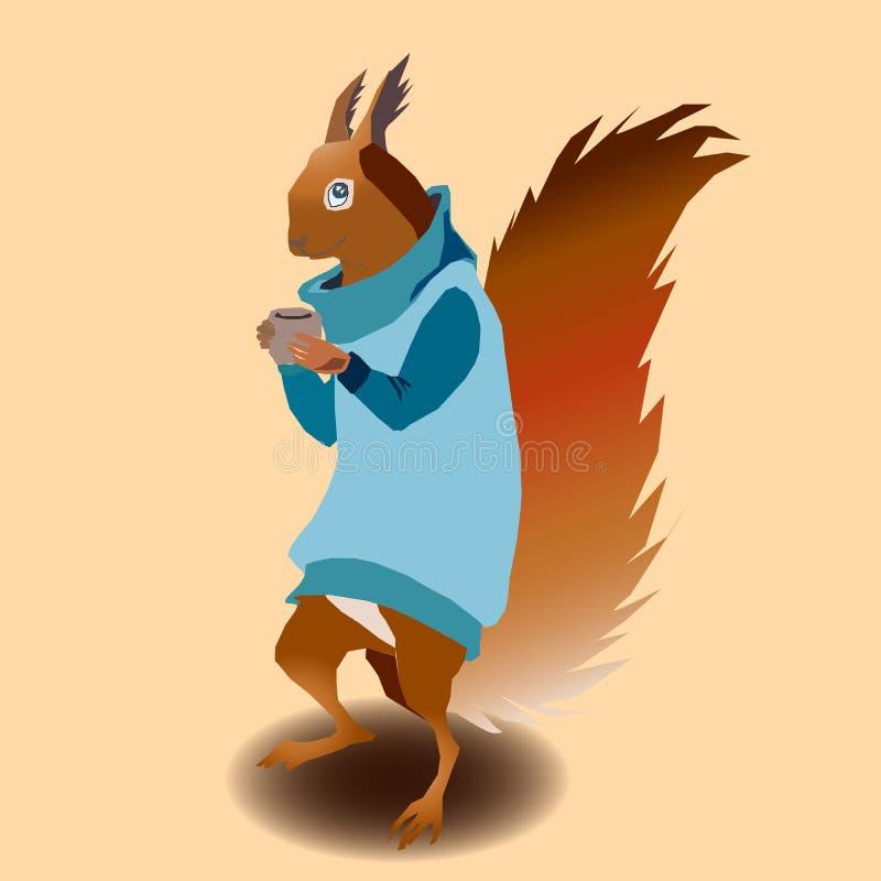 Esquilo na camiseta fotografia de stock
