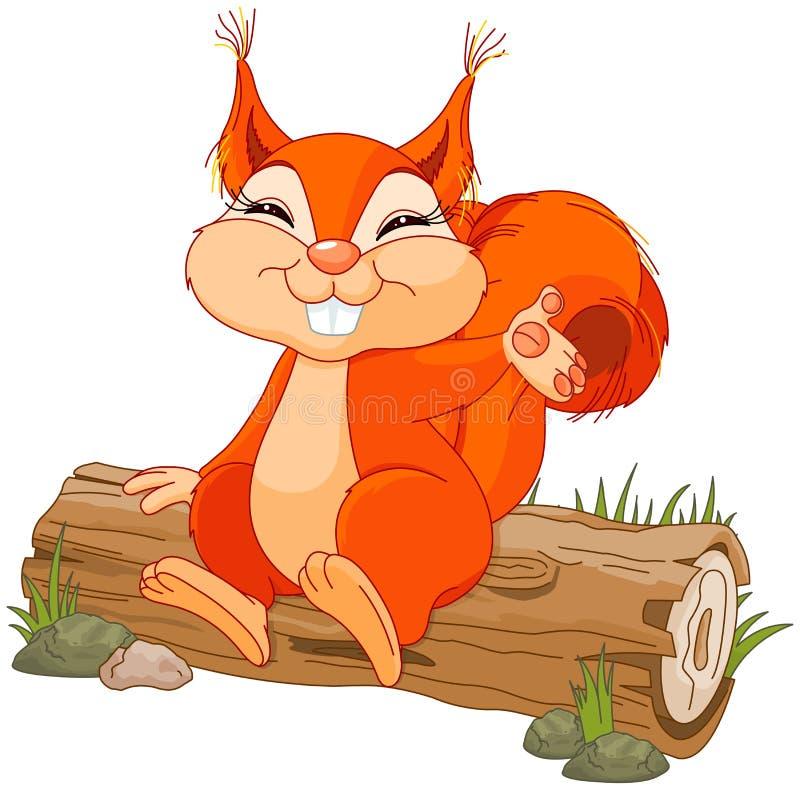 Esquilo nas férias ilustração stock