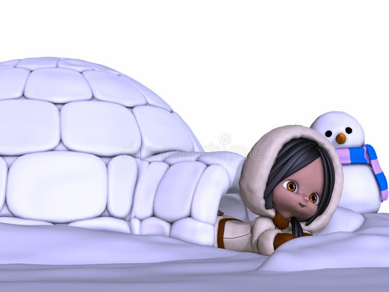 Esquimó de Toon ilustração stock