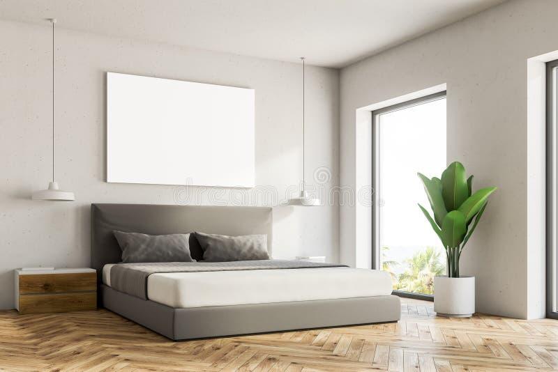 Esquina blanca del dormitorio, cartel libre illustration