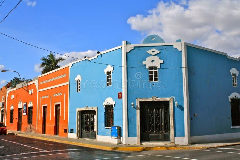 Esquina da rua, Merida, México imagem de stock royalty free