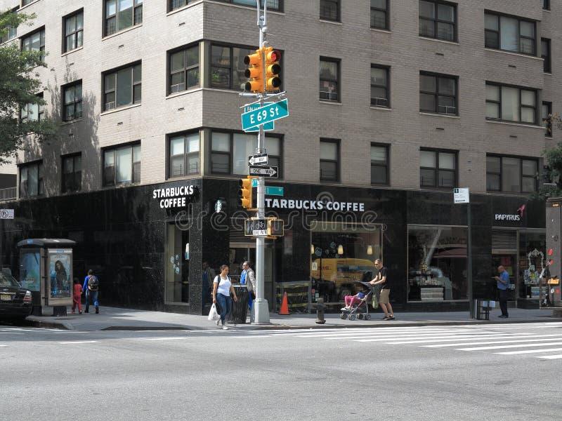 Esquina de calle de New York City fotografía de archivo