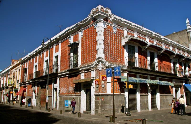 Esquina de calle Puebla, México fotos de archivo libres de regalías
