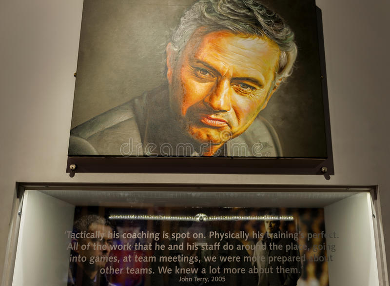 Esquina de Jose Mourinho fotografía de archivo libre de regalías