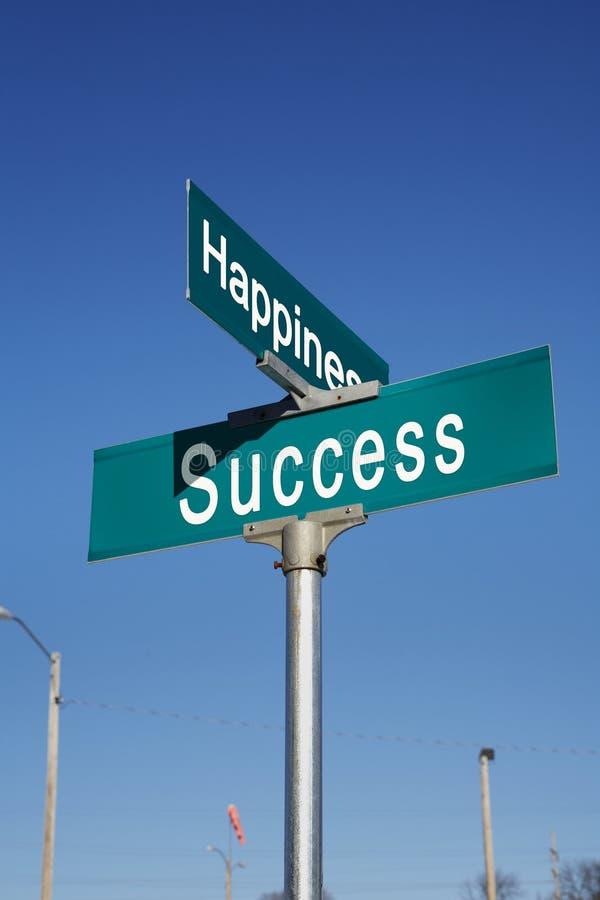 Esquina de la felicidad y del éxito foto de archivo