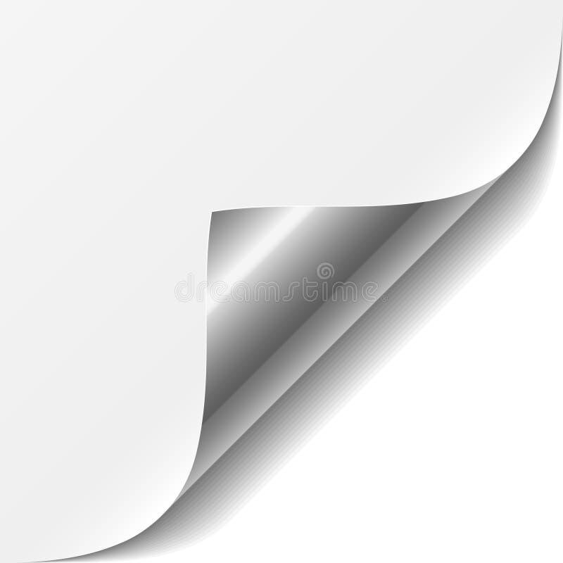 Esquina de la paginación blanca del vector