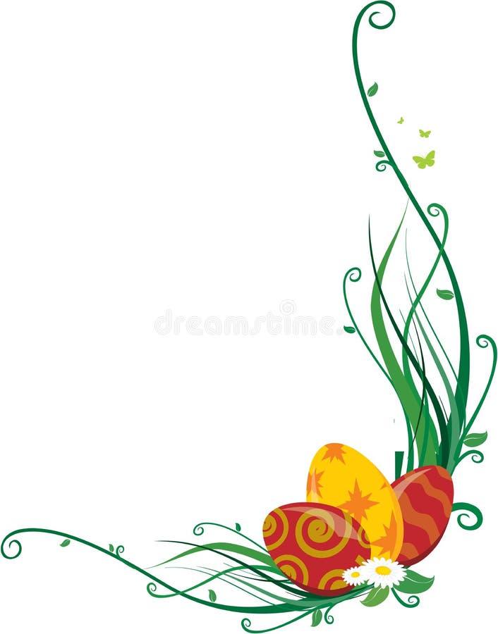 Esquina de los huevos de Pascua stock de ilustración