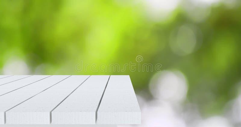 Esquina de madera vacía de la tabla fotografía de archivo