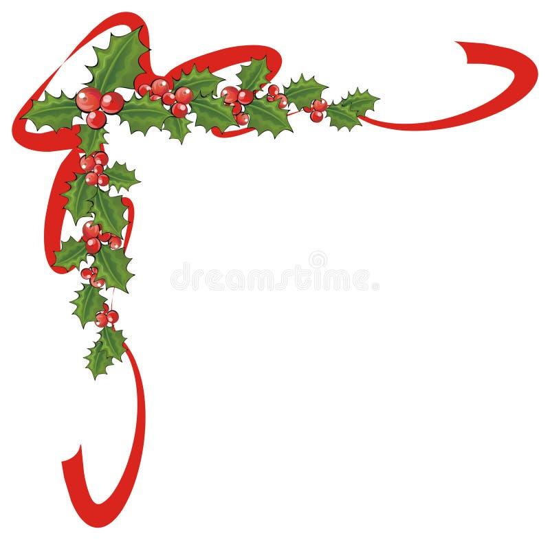 Esquina de Navidad ilustración del vector